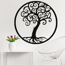 Decoration on the wall of a tree life wooden image of plywood JULKA