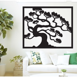 Wooden image on the wall of a bonsai tree wooden plywood DRAZSKA