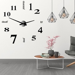 Big wall clock with number seven HOME