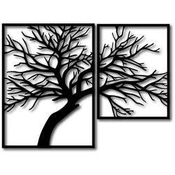 STYLESA Obraz drewna na sklejce Obraz składa się z dwóch części OLGA i czarnego PR0220