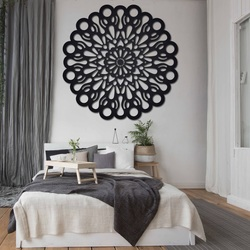 STYLESA wooden wall painting made of plywood ORFEA PR0224 black
