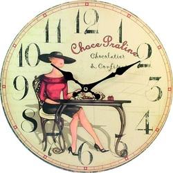 Wooden clock Sweet temptation. Material: MDF, size: Fi 30 cm