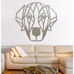 STYLESA modern wall painting dog made of plywood PR0229 HAFFF black