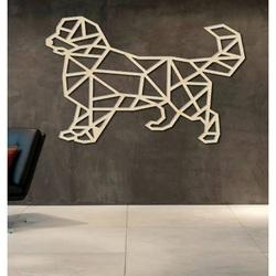 STYLESA geschnitztes Bild auf Sperrholzwand Hund PR0230 schwarz Wandtattoo