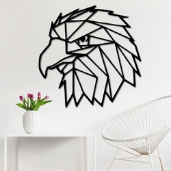 STYLES Carved wall painting geometric shapes eagle PR0234 black