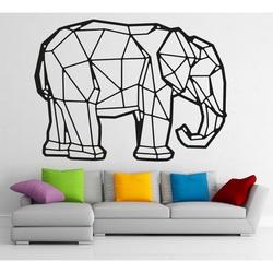 Styles Dřevěný obraz na stěnu z překližky slon PR0239 černý