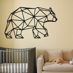 SENTOP Carved picture on the wall of a bear PR0240 black