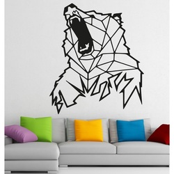 STYLESA Carved picture on the wall of wood bear PR0243 brown