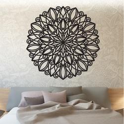 STYLES Mandala Holzbild an der Wand   aus Sperrholz HARMONY PR0246 schwarz