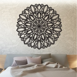 STYLES Mandala wooden picture on the wall   made of plywood HARMONY PR0246 black