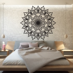 SENTOP Carved wooden mandala picture on a wall of plywood