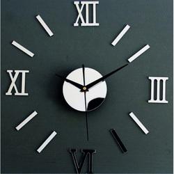 Fantastic mirror clock on the wall of a small roman clock