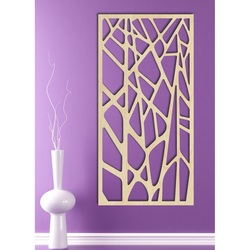 Carved wooden wall painting of HUGO plywood