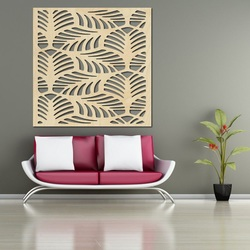 Carved Wooden Wall Image from plywood KVADER