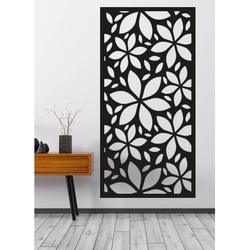 Wall painting carved from wooden plywood KOSMOS