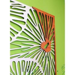 Carved image on  wooden plywood wall color original poplar / orange ALICE
