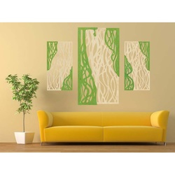 Wonderful picture on the wall of wooden plywood FLORALIS rear part Poplar original, color of the front part of your choice
