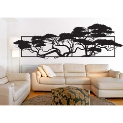 Elegant carved picture of plywood in the design of trees 3D POMPEZII