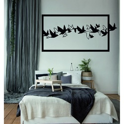 An eye-catching picture on the wall Carved wood plywood birds THE SKY