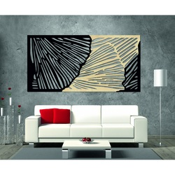 Tasteful 3D image on the wall of plywood rear part Poplar original, front color of choice