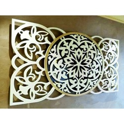 Artistic mandala picture on the wall made of plywood rear part Poplar original, color of front part of your choice
