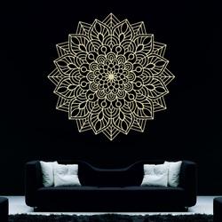 Dřevěný obraz na zeď květ radosti I vyřezávaná mandala z překližky