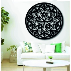 Magic wooden mandala - picture on the wall sticker