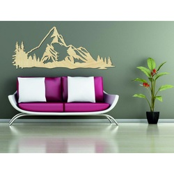 Mountains picture on the wall of nature plywood