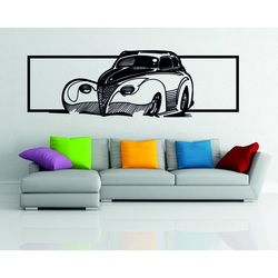 Picture on the wall wooden plywood car - a whiff of history