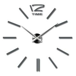 Modern wall clock gray metal