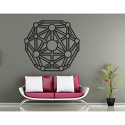 Geometric picture on the wall carved from wooden plywood