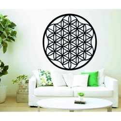An image of a mandala on a plywood wall up to 120 cm