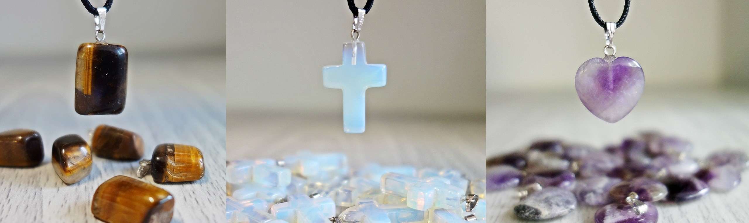 Necklaces from gemstones, mineral, medicinal, stone, jewelry for you